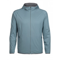 Icebreaker Mens Coriolis Hooded Windbreaker Vapour/Metal