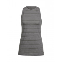 Icebreaker Wmns Aria Sleeveless Combed Lines Metal/Snow