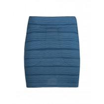 Icebreaker Women's Yanni Skirt Combed Lines Prussian Blue/Snow