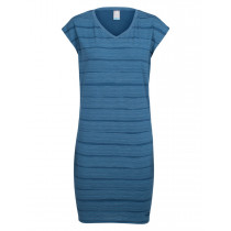Icebreaker Women's Yanni Tee Dress Combed Lines Prussian Blue/Snow