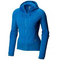 Mountain Hardwear W Monkey Woman™ Grid Hooded Jacket Prism Blue