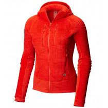 Mountain Hardwear W Monkey Woman™ Grid Hooded Jacket Fiery Red