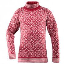 Devold Svalbard Sweater High Neck Hindberry/Offwhite