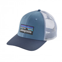 Patagonia P-6 Logo Trucker Hat Railroad Blue