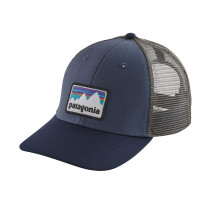 Patagonia Shop Sticker Patch Lopro Trucker Hat Dolomite Blue
