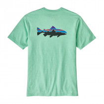 Patagonia M's Fitz Roy Trout Responsibili-Tee Bend Blue