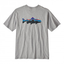 Patagonia M's Fitz Roy Trout Responsibili-Tee Drifter Grey