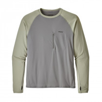 Patagonia M's Sunshade Crew Feather Grey W/Desert Sage
