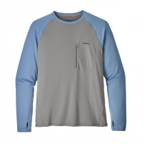 Patagonia M's Sunshade Crew Feather Grey W/Railroad Blue