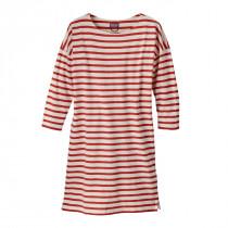 Patagonia Women's Seatoller Dress Midnight Stripe: Static Red