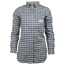 Amundsen Sports Vagabond Shirt Womens Small Chequered Blue