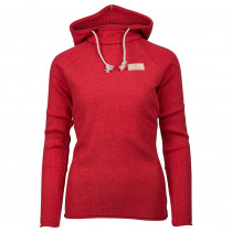 Amundsen Sports Boiled Hoodie Ribbed Womens Weathered Red