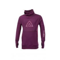 Aclima Warmwool Hood Sweater, Children Grape Wine/Damson