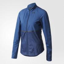 Adidas Adizero Track Jacket Women's Mystery Blue/Utility Black