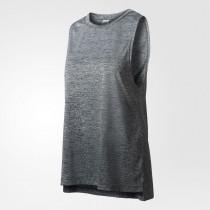 Adidas Boxy Mélange Tank Top Women's Grey/Black