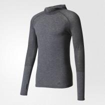 Adidas Primeknit Wool Hooded Tee Men's Utility Black/Black