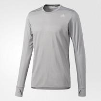 Adidas Supernova Long Sleeve Tee Men's Medium Grey Heather Solid Grey