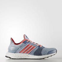 Adidas Ultra Boost ST Shoes Women's Easy Blue/Haze Coral/Dark Grey Heather Solid Grey