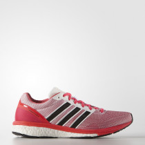 Adidas Adizero Boston 5 Women's White/Core Black/Shock Red