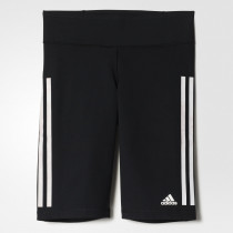 Adidas Ultimate Fit 3-Stripes Short Tights Black/White