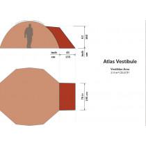 Hilleberg Atlas Fortelt Rød