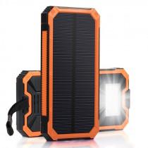 Brecom Powerbank  M/Solcelle Brecom Usb Output 5v (1a-2a). 12000mAh