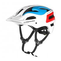Sweet Protection Bushwhacker II Helmet Matte White/Blue/Red