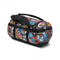 The North Face Base Camp Duffel S TNF Red Sticker Bomb Print/TNF Black