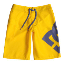 DC Boy's 8-16 Lanai Boardshorts Lemon Chrome