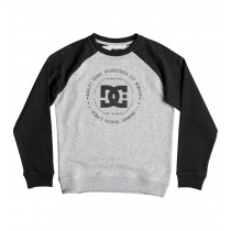 DC Rebuilt Raglan Sweatshirt Boy's Black/Grey Heather