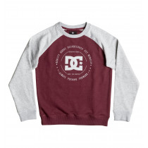 DC Rebuilt Raglan Sweatshirt Boy's Heather/Windsor Wine