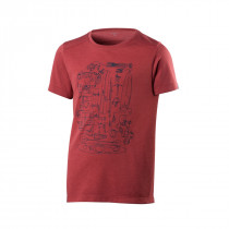 Houdini Junior's Big Up Message Tee Hut Red
