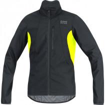 Gore Bike Wear Element Gore Windstopper Jacket Black/Neon Yellow