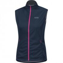 Gore Running Wear Mythos Lady 2.0 Windstopper Soft Shell Light Vest Black Iris/Raspberry Rose