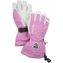 Hestra Army Leather Heli Ski Jr. - 5 Finger Cerise