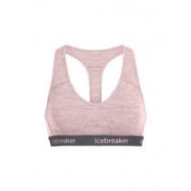 Icebreaker Women's Sprite Racerback Bra Soft Pink Hthr/Stealth