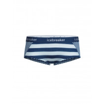 Icebreaker Women's Sprite Hot Pants Ice Blue/Largo/Stripe