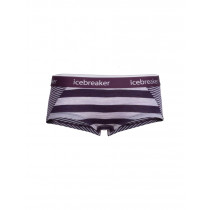 Icebreaker Women's Sprite Hot Pants Silk Hthr/Burgundy Hthr/Stripe