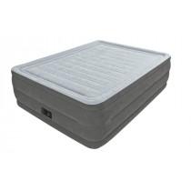 Intex Luftmadrass Queen Comfort Plush M/El Pumpe