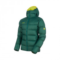 Mammut Meron In Hooded Jacket Men Dark Teal-Canary