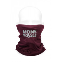 Mons Royale Double Up Neckwarmer Vert Burgundy