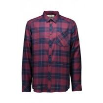 Mons Royale Men's Jackson Flannel Shirt Navy/Burgundy