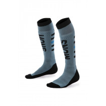 Mons Royale Men's Mons Snow Tech Sock Lead/Black/Bay Blue