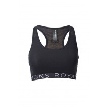 Mons Royale Sierra Sports Bra Wordstack Black