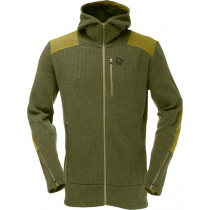 Norrøna Tamok Warm/Wool2 Zip Hood (M) Olive Drab
