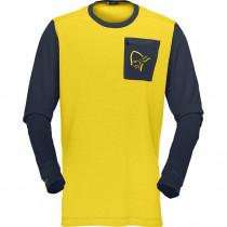 Norrøna Fjørå Equaliser Men's Lightweight Long Sleeve (M) Mellow Yellow