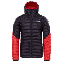 The North Face Men's Summit L3 Down Hoodie TNF Black/Fiery Red