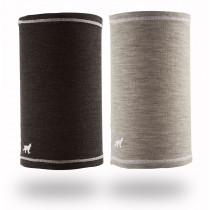 Felines W's Buff 100% Merino 2pk Grey/Charcoal
