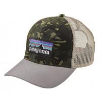 Patagonia P-6 Logo Trucker Hat Big Camo: Fatigue Green W/Drifter Grey