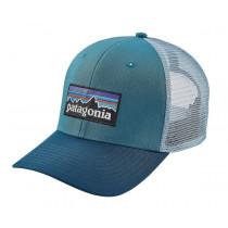 Patagonia P-6 Logo Trucker Hat Filter Blue